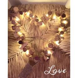 Coeur lumineux en bouchons...